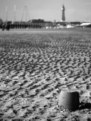 Blackpool Beach 2 B+W