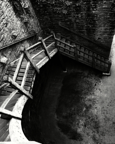 Conwy Stairs B+W
